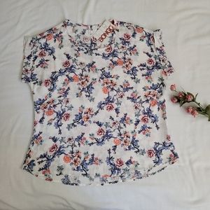 NWT - M - Bongo - cap short sleeve Floral shirt